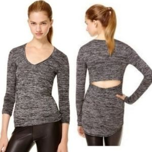 Aritzia Wilfred Free Luma top black grey medium